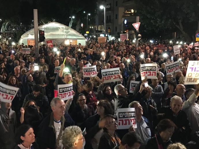 המפגינים בשדרות רוטשילד