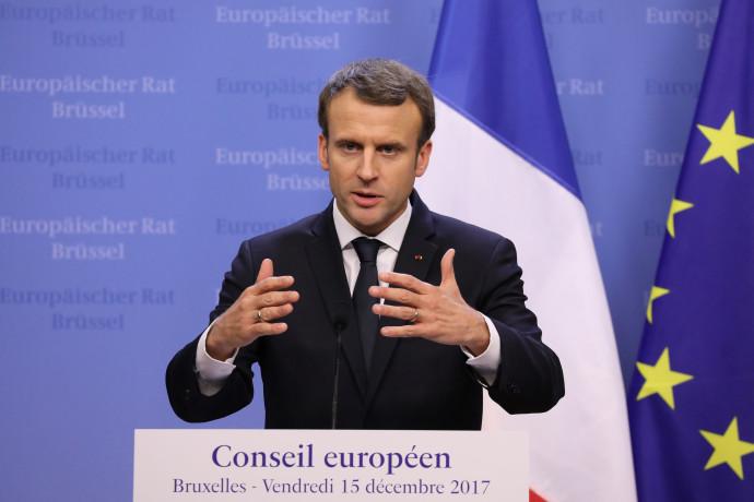 עמנואל מקרון בפסגה האירופית