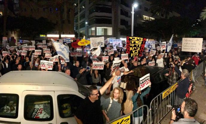 ההפגנה בשדרות רוטשילד נגד השחיתות השלטונית