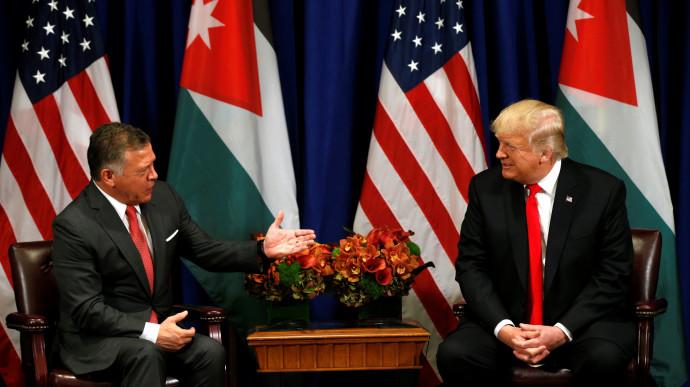 דונלד טראמפ והמלך עבדאללה