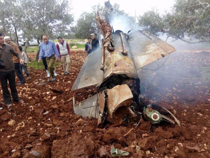 טיל הנ.מ. הסורי שנורה לעבר המטוס הישראלי