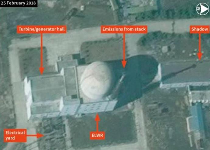 תמונות הלוויין של הכור הגרעיני בקוריאה הצפונית