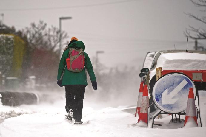 סופת שלגים בבריטניה