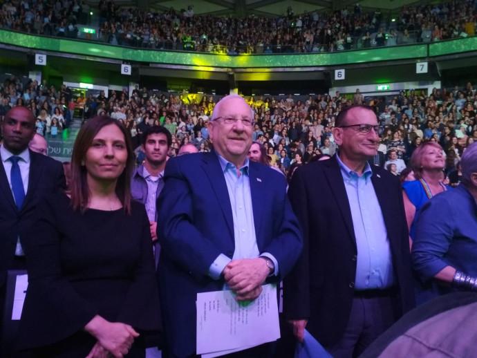 """הנשיא ראובן ריבלין וראש עיריית ת""""א רון חולדאי"""