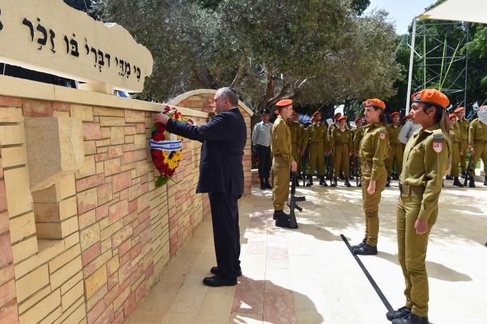 שר הביטחון אביגדור ליברמן בטקס יום הזיכרון