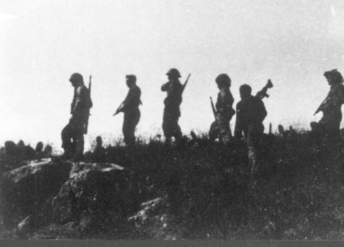 """כוחות פלמ""""ח במשלט שער הגיא במהלך מבצע מכבי"""