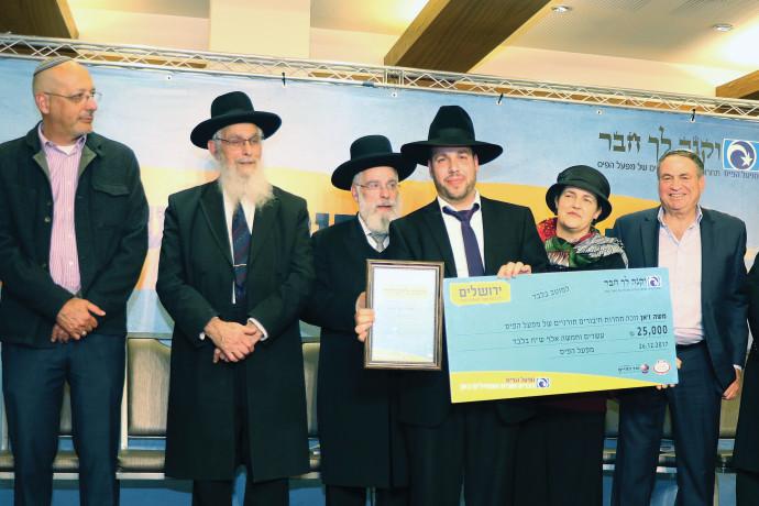 הרב ג'אן בתחרות חיבורים תורניים 2017 עם עוזי דיין ועמרי לוטן