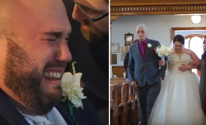 בוכה בחתונה