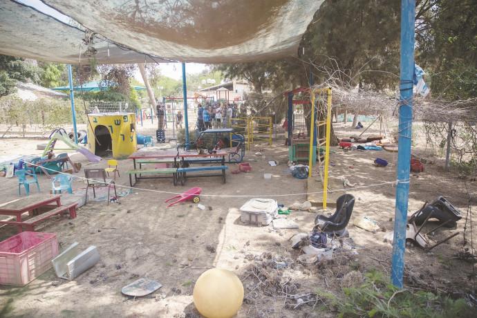 גן ילדים שנפגע מרקטה