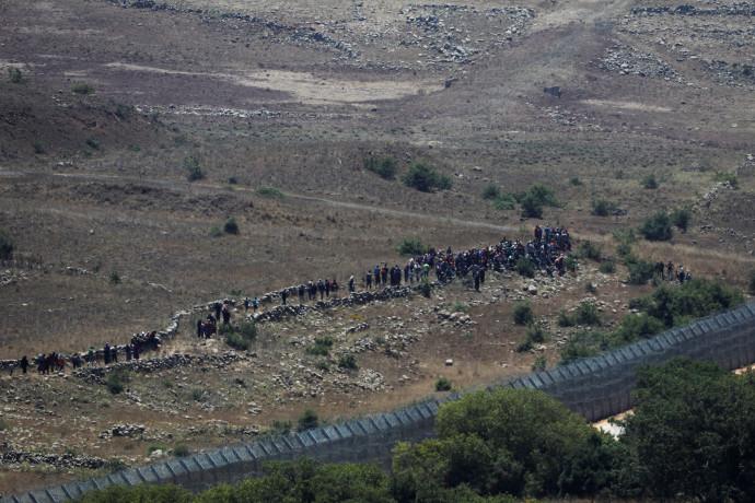 פליטים סורים בגבול עם ישראל