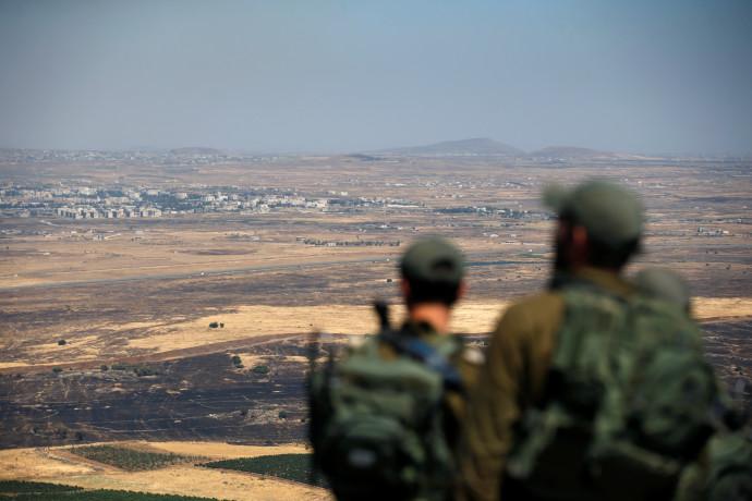 """חיילי צה""""ל בגבול סוריה"""