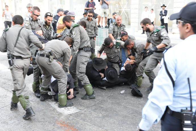 מעצר חרדים בבני ברק