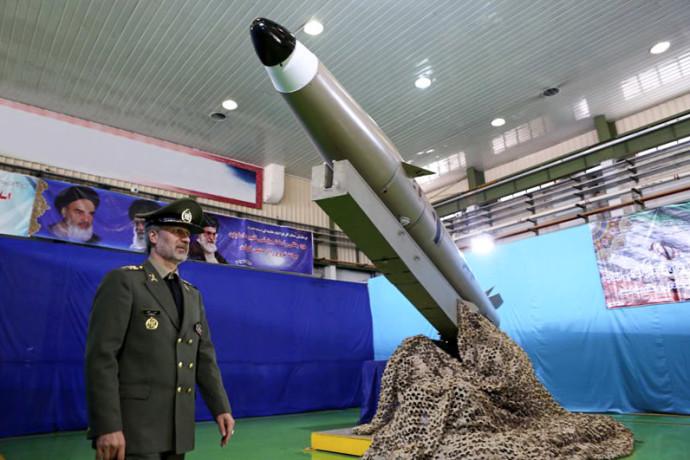 """הטיל """"פאתח מוֹבּין"""" שנחנך ע""""י איראן"""