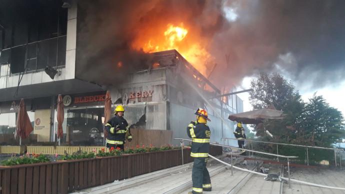 שריפה במתחם מיקס