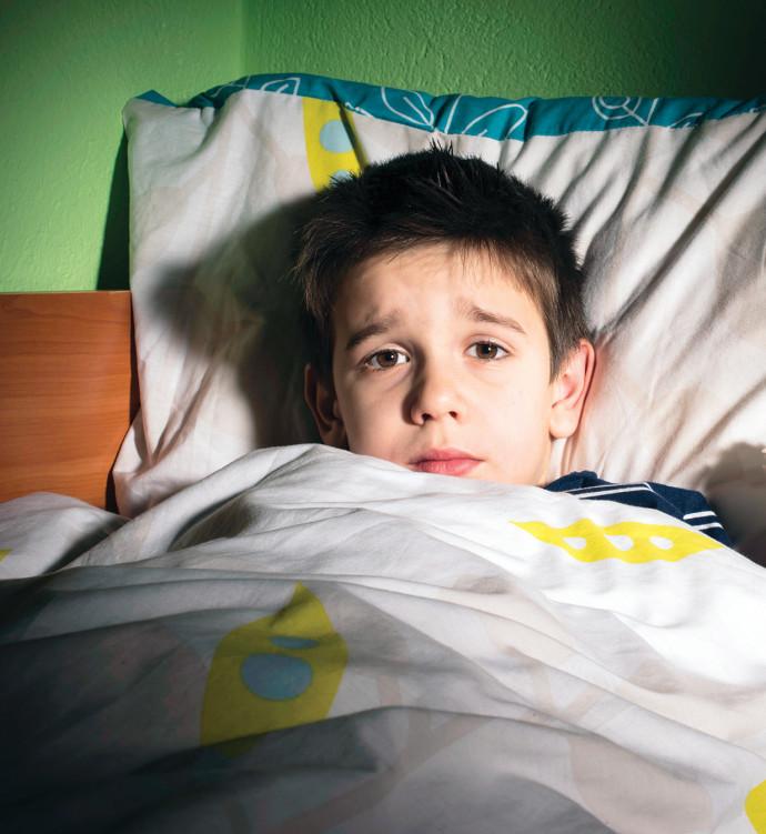 ילד ישן אילוסטרציה
