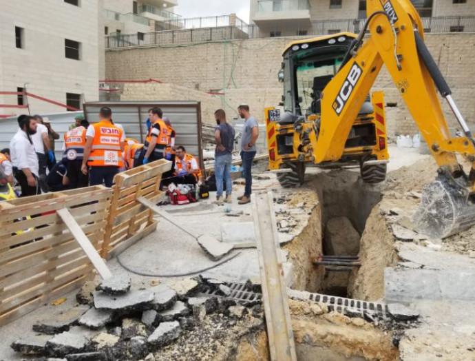 אתר הבניה בו נהרג הפועל בבית שמש
