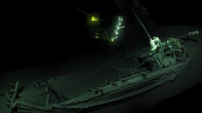 ספינה בת 2500 שנה נמצאה בים השחור