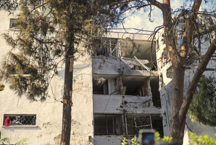הבניין שנפגע באשקלון