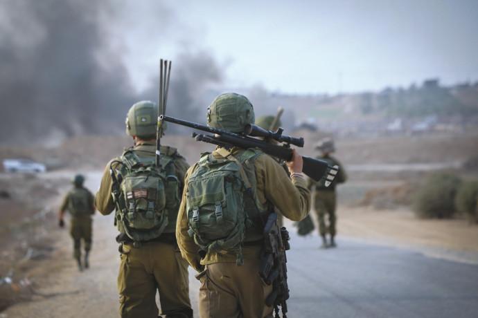 """חיילי צה""""ל בסמוך לגבול עזה"""