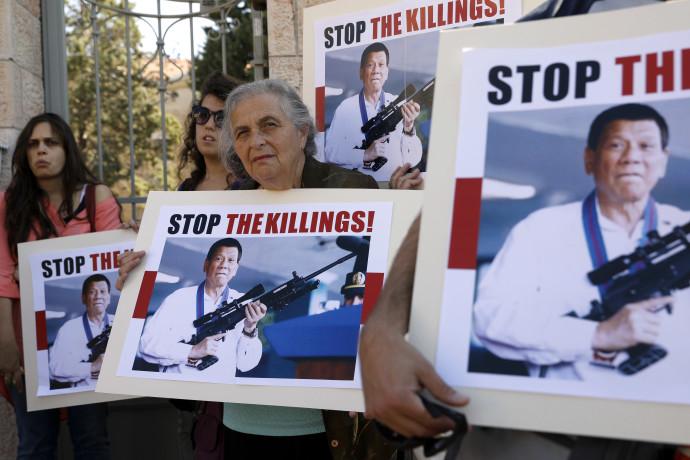 הפגנה נגד רודריגו דוטרטה