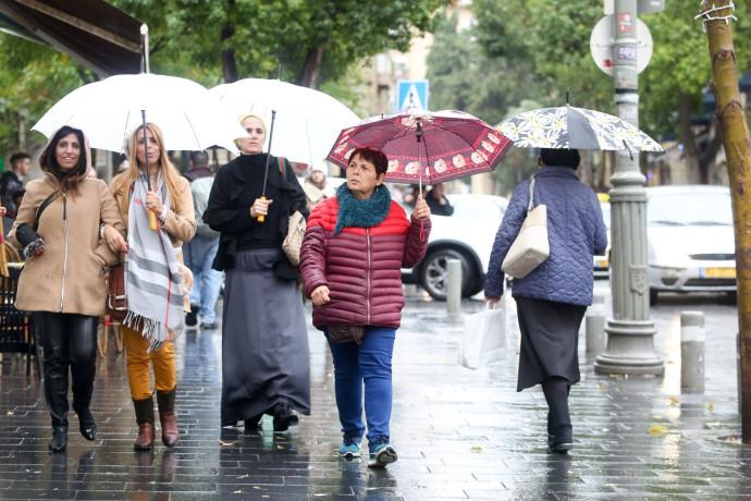 גשמים עזים ברחבי הארץ