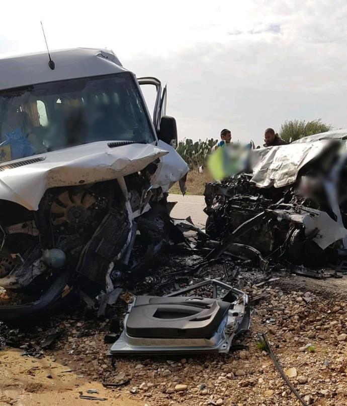 תאונה חזיתית בדרום
