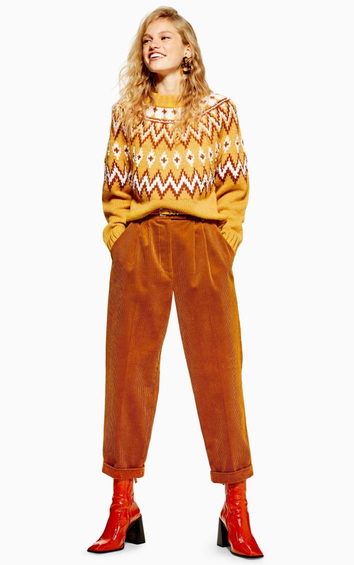 TOPSHOP - מכנסי בד קורדרוי