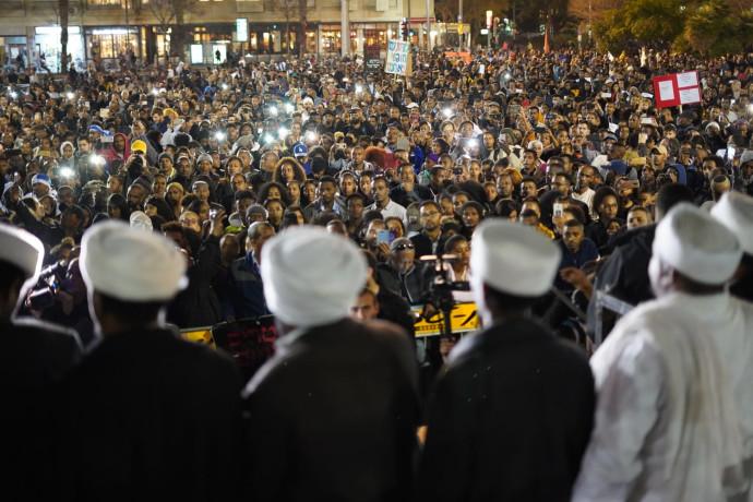 הפגנת יוצאי אתיופיה בכיכר רבין