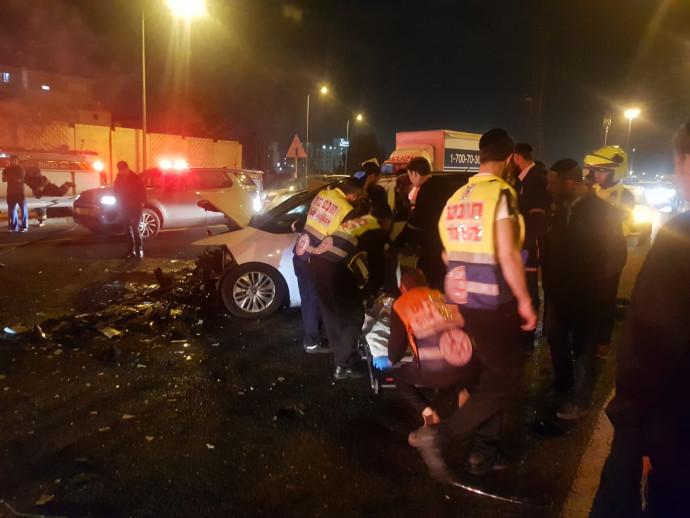 זירת התאונה סמוך לצומת גהה