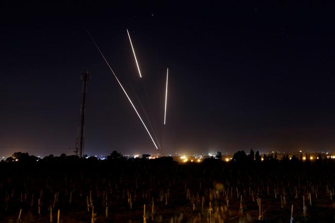 רקטות שנורות מרצועת עזה לישראל