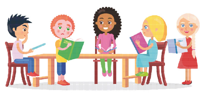 תלמידים בבית ספר, אילוסטרציה