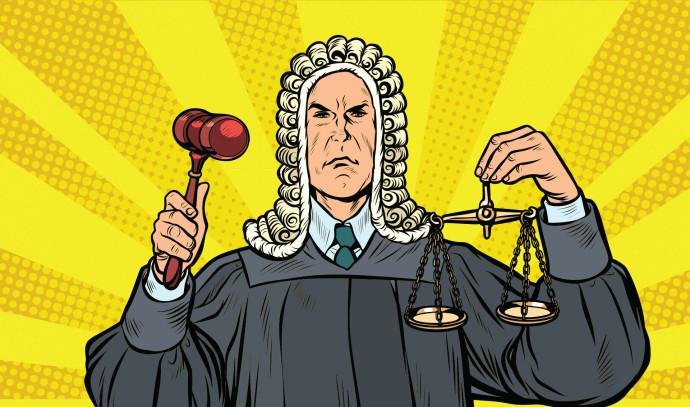שופט, אילוסטרציה