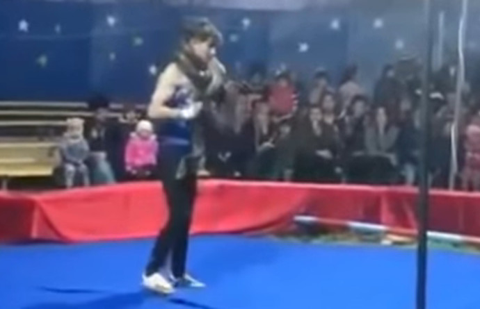 נחנק למוות בידי נחש במהלך הופעה