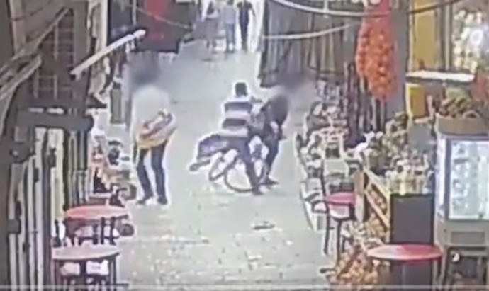 תיעוד פיגוע דקירה בירושלים