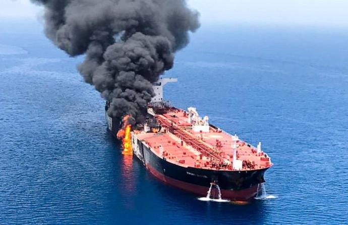מכלית הנפט שהותקפה במפרץ הפרסי