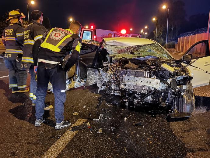 תאונה סמוך לכפר הירוק