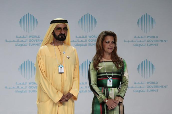 שליט דובאי מוחמד בן ראשד והנסיכה האיא