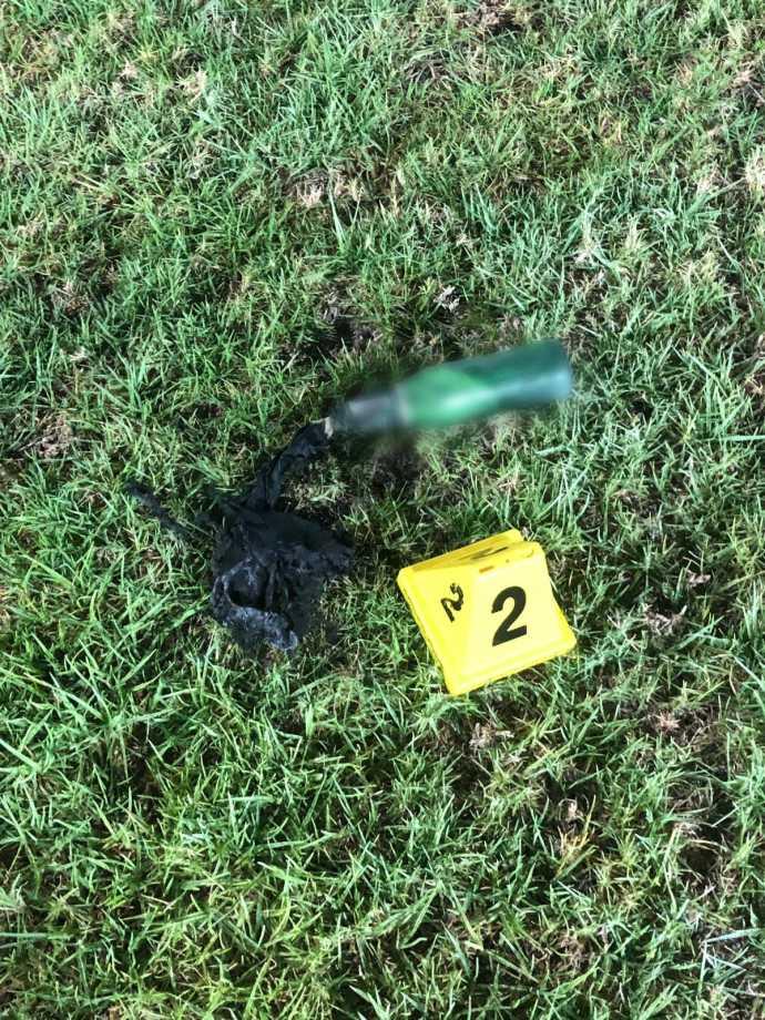 בקבוק תבערה שהושלך לעבר תחנת המשטרה בבאר יעקב