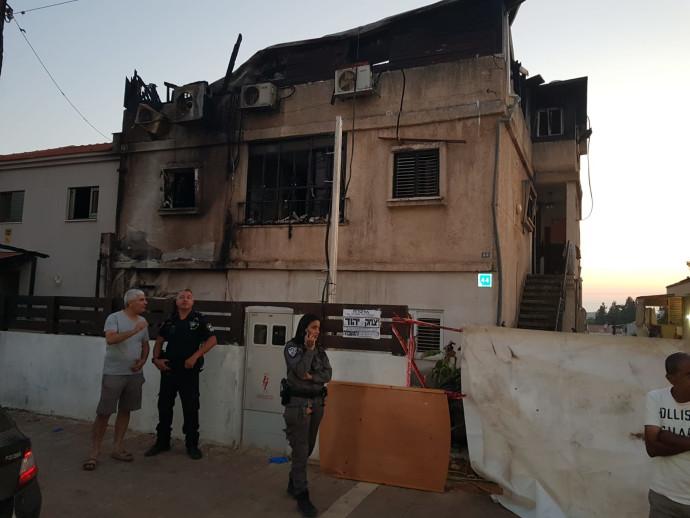 הבית של כרמל מעודה שנשרף בראש העין