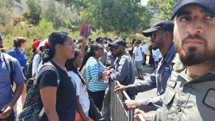 הפגנת יוצאי אתיופיה סמוך לכנסת