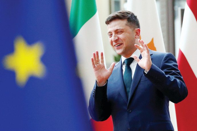 נשיא אוקראינה וולודימיר זלנסקי