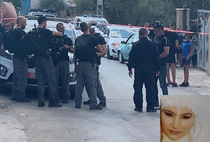 זירת הרצח בג'דידה מכר והנרצחת אמינה פרחאת-יאסין
