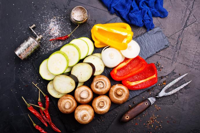 אוכל טבעוני (אילוסטרציה)