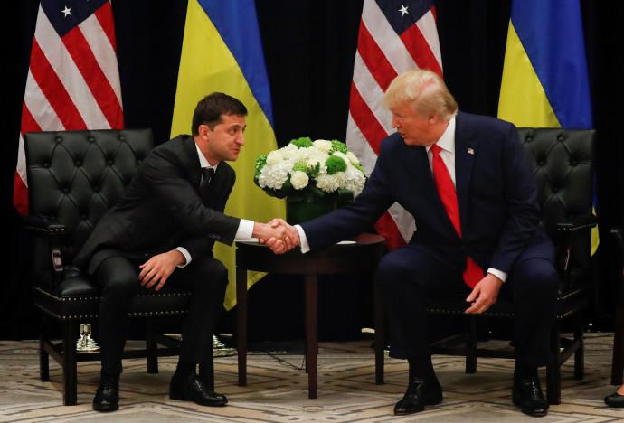 טראמפ ונשיא אוקראינה נפגשים