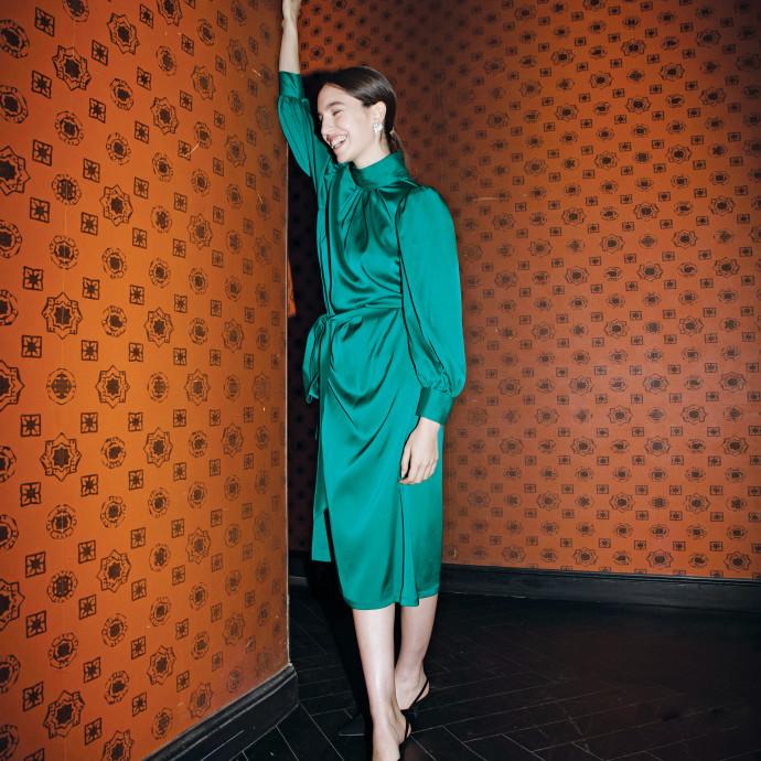 שמלה ירוקה