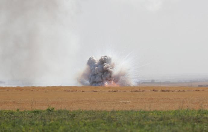 אזור הקרבות בצפון סוריה