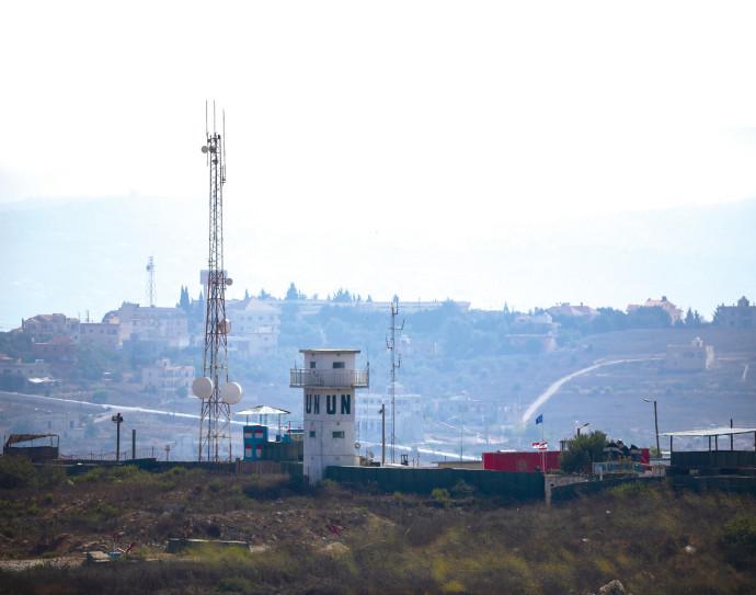 """עמדת או""""ם בגבול ישראל-לבנון"""