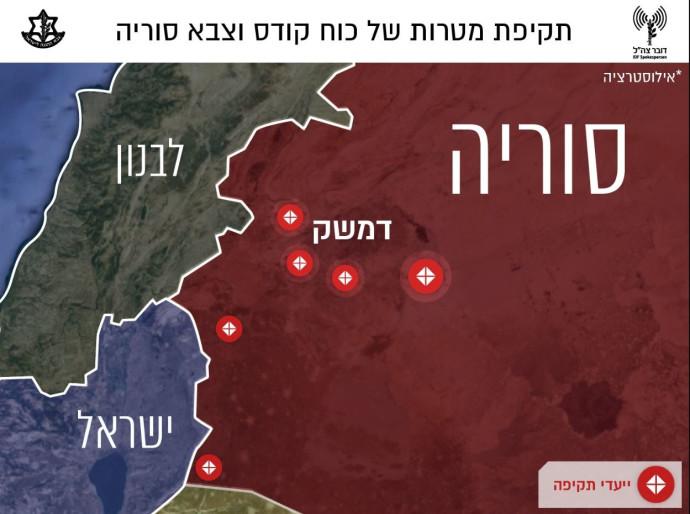מטרות התקיפה בסוריה