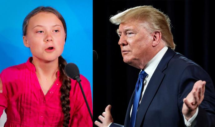 טראמפ וגרטה טונברג