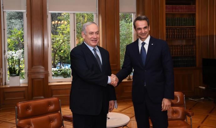 בנימין נתניהו, ראש ממשלת יוון מיצוטקיס